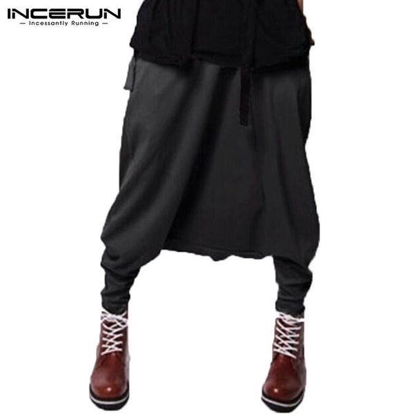 Stylish Mens Harem Pants Drop Crotch Cross-pants Baggy Man Trousers Pantalones Fitness Joggers Sweatpants Fashion Mens Clothes