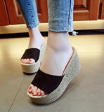 Summer Buckle Women's Sandals Velvet Flock Fish Mouth Fashion high Heel Platform Open Toes Women Sandals Shoes Drop Shipping