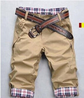 TANGNEST Casual Shorts Men 2019 Summer Short Pants Candy Color Beige Shorts High Quality Beach Shorts Plus Size 2XL Q159