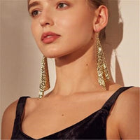 Trendy New Brand Sequin Drop Earrings For Woman Statement Creative Cheap Dangle earring Fashion Women Ear Jewelry Brincos New
