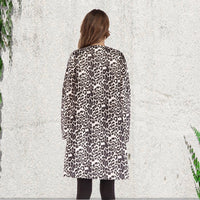 Try Everything Print Leopard Cardigan Women Long Sleeve Ladies Cardigans Of Large Sizes Brown Basic Oversized Long Cardigan 4XL