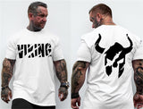 VIKING 2018 New Brand clothing Gyms Tight t-shirt mens fitness t-shirt homme Gyms t shirt men fitness Summer tops