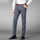 Vomint Brand New Men's Business Pants Regular Straight Fit Stretch Pants Casual Suit Trousers Elasticity Pants Pocket Details
