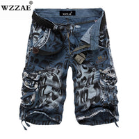 WZZAE 2018 New Design Men Summer Camouflage Military Cargo Shorts Bermuda Masculina Jeans Male Fashion Casual Baggy Denim Shorts