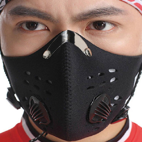 Anti Dust pollution and virus Face Mask With Filters and valves Unisex
