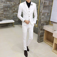 White Mens Suits Fashion Business Male Formal Suit Tuxedo Size 3XL Mens Wedding Suits 2019