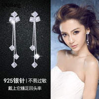 Wholesale Silver Earrings Temperament 925 Sterling Silver Rhinestone Stud Earrings For Women Good Jewelry Brincos