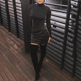 Women's Elegant Long Sleeve Party Pencil Dress Autumn Winter Modern Office Lady Dress