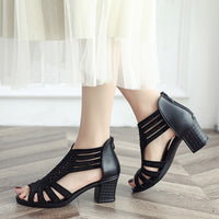 Women Fashion Crystal Hollow Out Peep Toe Wedges Sandals High Heeled Shoes zapatos mujer tacon chaussures femme ete 2018 new #7
