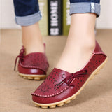 Women Flats Women Genuine Leather Shoes Slip On Loafers Woman Soft Nurse Ballerina Shoes Plus Size 34-44 Casual Sapato Feminino 1