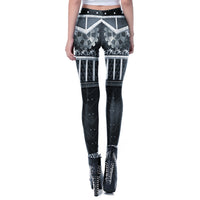 [You're My Secret] Fashion Steampunk Women Leggings For Fitness 3D Printing Workout Leggins Mechanical Gear Sexy Slim Legging