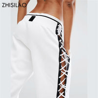 Women's Pants Trousers Casual Harajuku Hollow Out Sweatpants