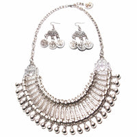 Ztech Collar Coin Necklace & Pendant Vintage Crystal Maxi Choker Statement Collier female Boho Big Fashion Women Jewellery Gifts