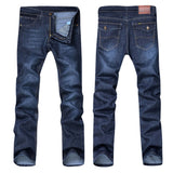 feitong  2018 Men's Casual Autumn Denim Cotton Hip Hop Loose Work Long Trousers Jeans Pants men jeans pants slim fit #30