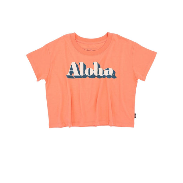 Aloha Crop Tee Girls