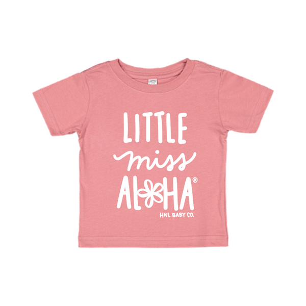 Little Miss Aloha Plumeria Tee Kids