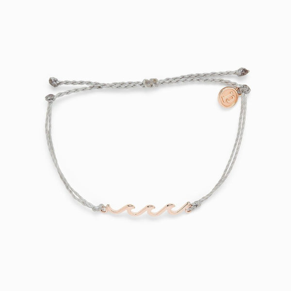 Rose Gold Delicate Wave Bracelet