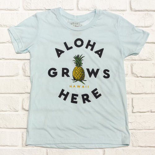 Aloha Grows Here Tee Kids
