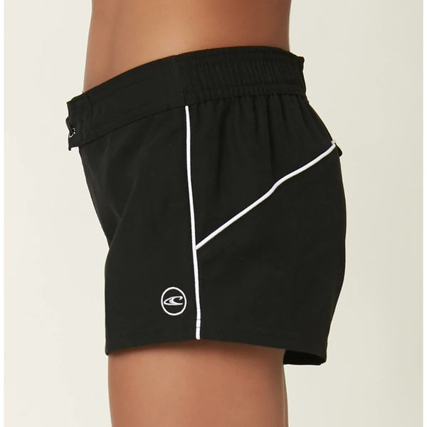 Saltwater Solid 2in Boardshort Girls Blk