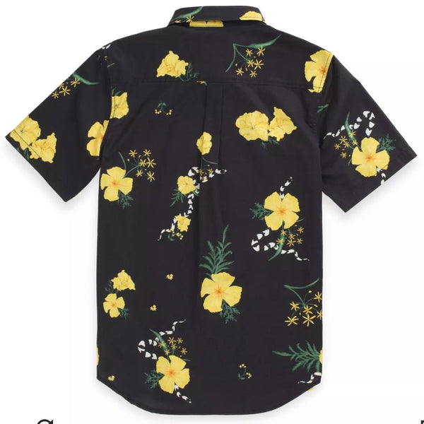 Super Bloom Floral Woven Boys Black