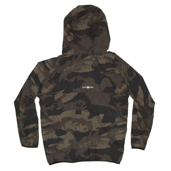 Seawall Packable Jacket Boys Camo
