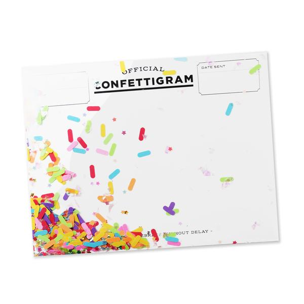 Sprinkles Confettigram Card