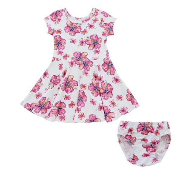Hibiscus T-Shirt Dress Baby