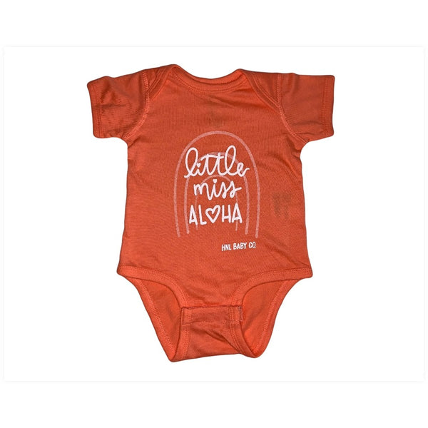 Little Miss Aloha Rainbow Onesie Baby