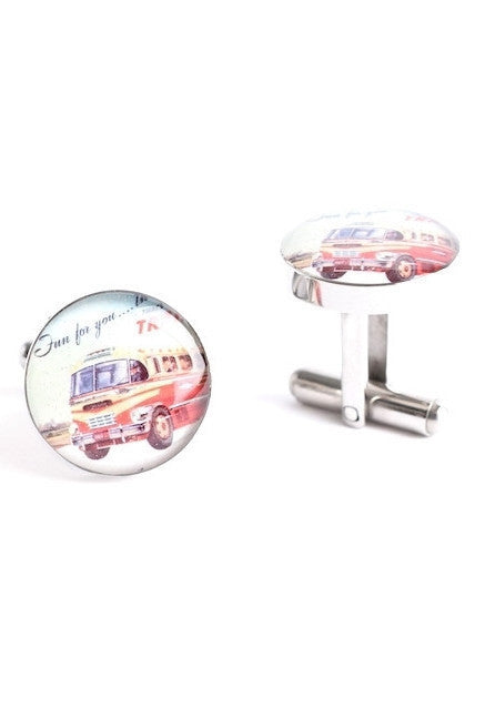 AMERICAN TRAVEL BUS CUFFLINKS