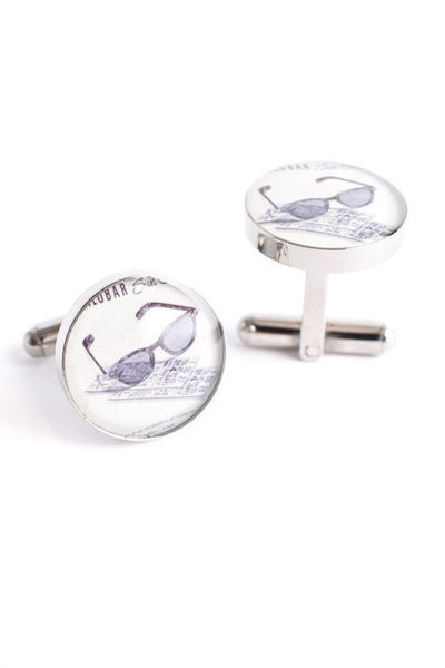 SUNGLASSES & TICKETS CUFFLINKS