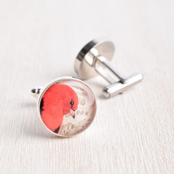 RED BIRD CUFFLINKS