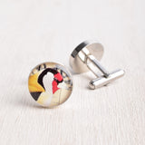 FINCH BIRD CUFFLINKS