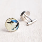 BLUE JAY BIRD CUFFLINKS