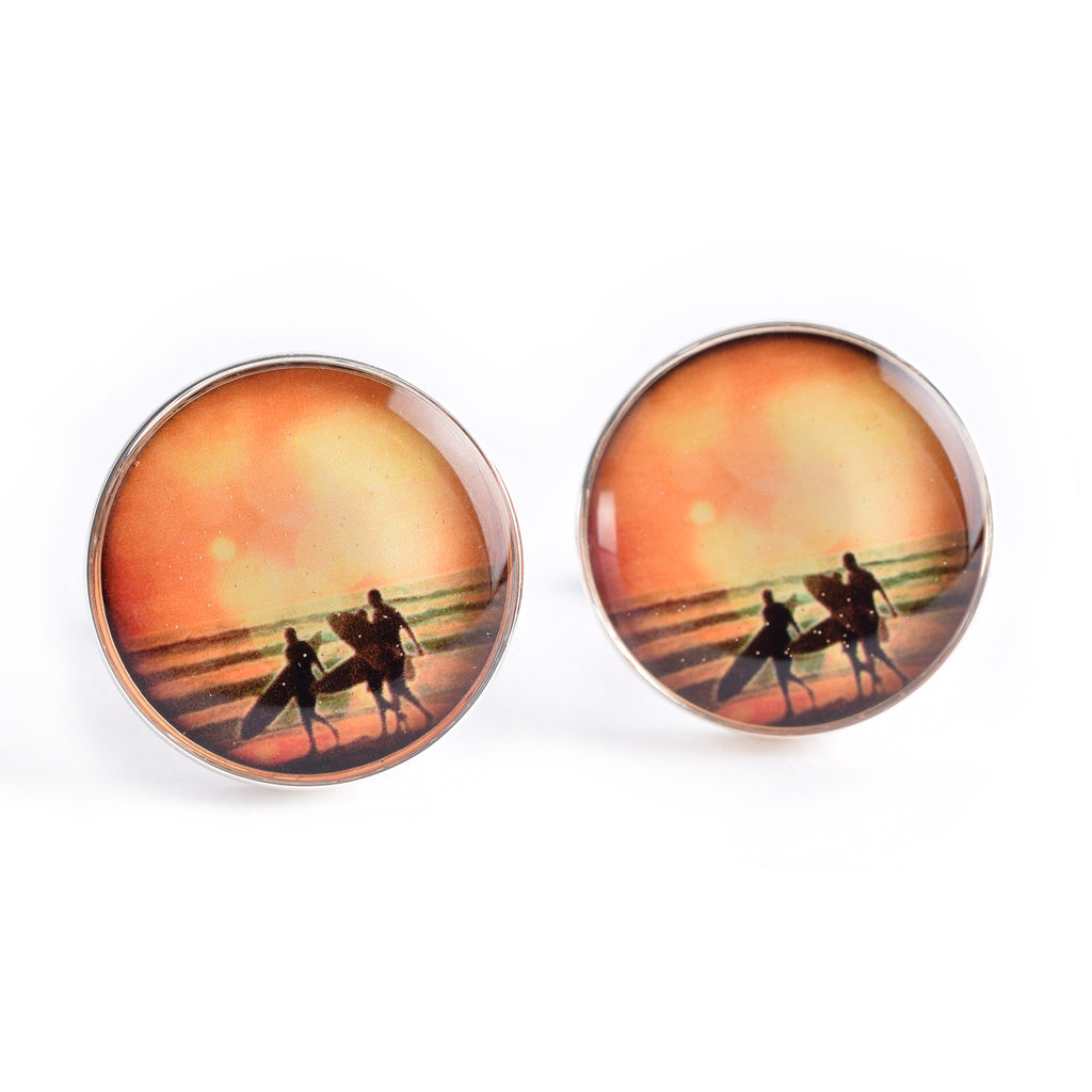 SURFER SUNSET CUFFLINKS