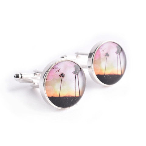 SUNSET PALM TREE CUFFLINKS