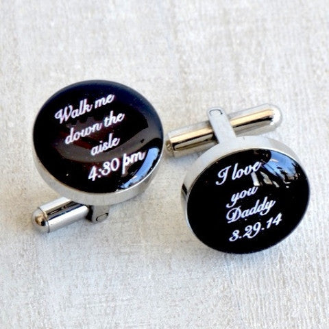 Walk Me Down the Aisle / I Love You Cufflinks