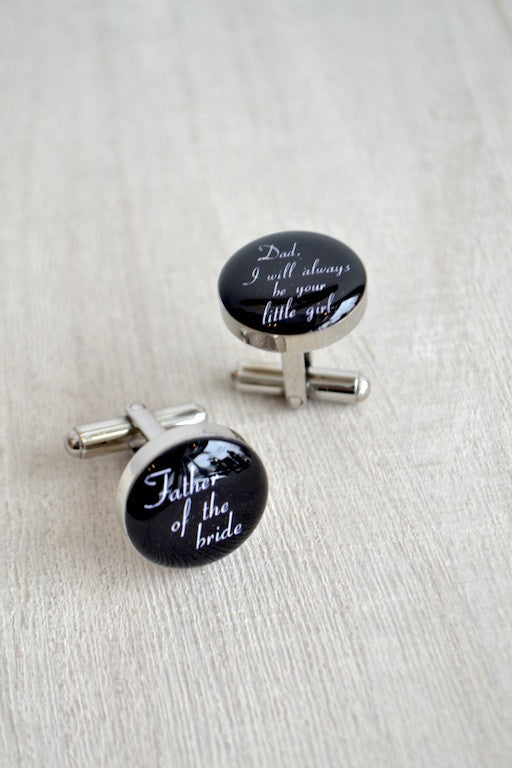 Father of the Bride - Your Little Girl Cufflinks
