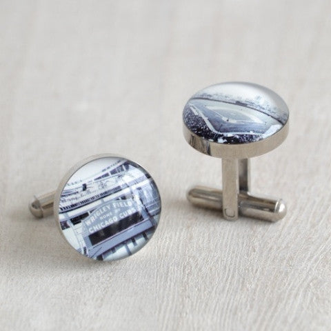 Chicago Cubs Stadium Cufflinks