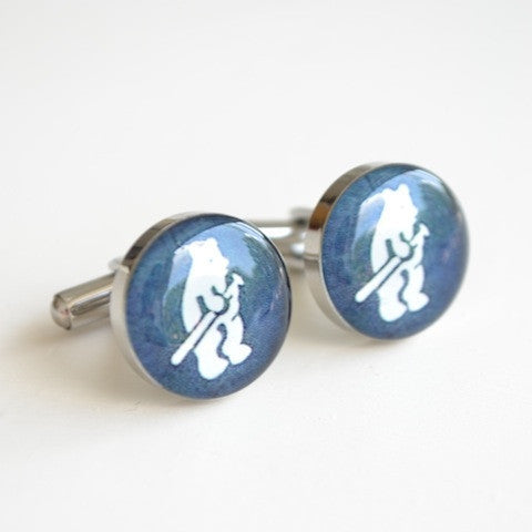 Vintage Chicago cubs logo cufflinks