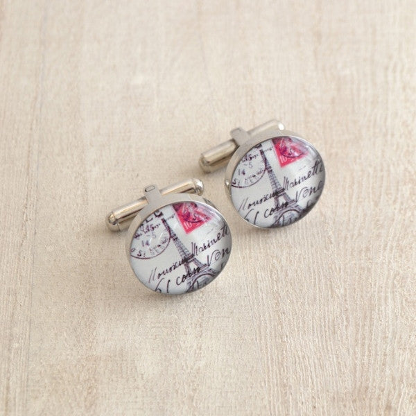 Eiffel Tower Postcard Cufflinks