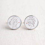 FOREVER AND EVER ILLUSTRATION CUFFLINKS