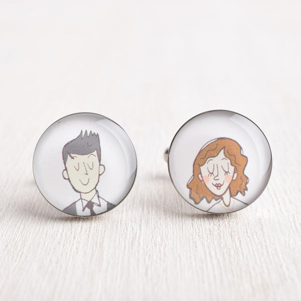 MIX MATCH ILLUSTRATION PORTRAIT CUFFLINKS