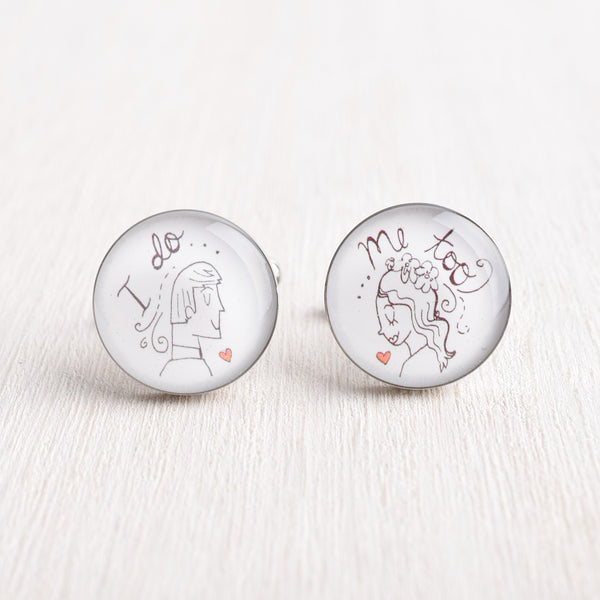 I DO ME TOO ILLUSTRATION CUFFLINKS