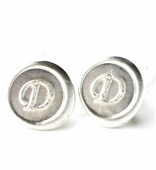 Personalized Initial Wax Seal Cufflinks