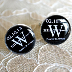 Custom Monogram Cufflinks