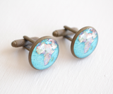 Vintage Brass Africa Map Cufflinks