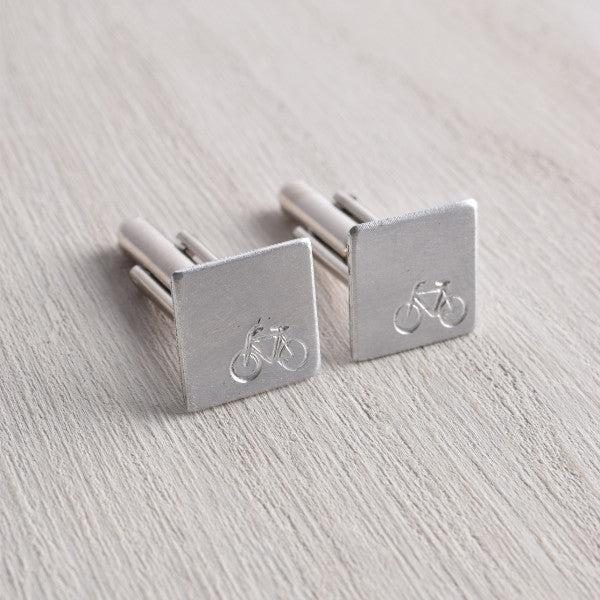 WHITE TRUFFLE BIKE CUFFLINKS