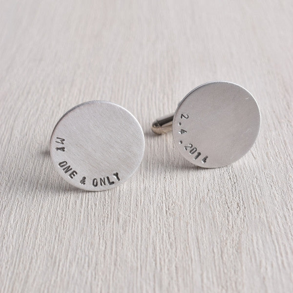 MY ONE & ONLY PERSONALIZED DATE CUFFLINKS