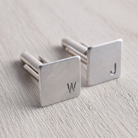 WHITE TRUFFLE PERSONALIZED INITIAL CUFFLINKS