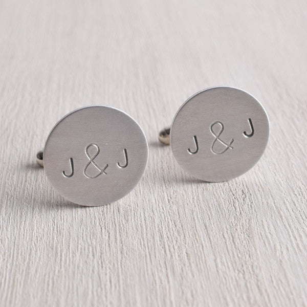 PERSONALIZED INTIAL AMPERSAND CUFFLINKS